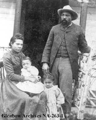 John Ware Black rancher and family southern Alberta 1896