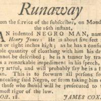 Runaway slave ad - NS - 1786.png